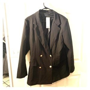Double breasted military style blazer